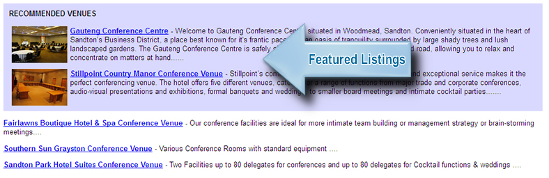 featured conference venue listing